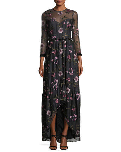 Essich High-Low Floral Evening Gown