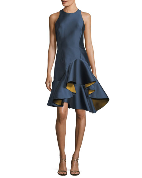 Sachin & Babi Nija Sleeveless Fitted Satin Cocktail