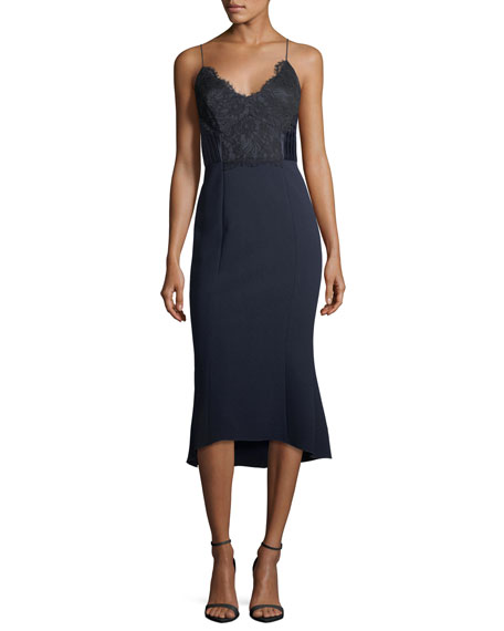 CAMILLA AND MARC Ricci Fit-and-Flare Sleeveless Cocktail Dress