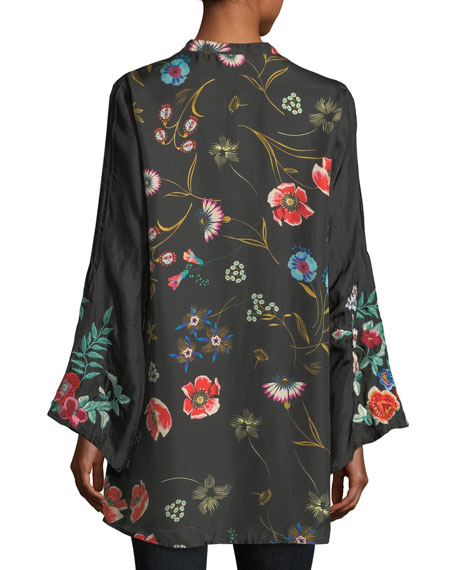 Lentino Floral-Print Tunic, Plus Size