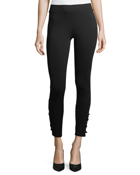 Romeo & Juliet Couture Ponte Lace-up Leggings