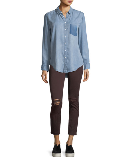 Margaux Instasculpt Ankle Skinny Jeans in Malbec