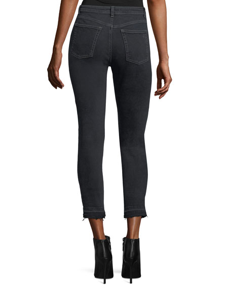 Chrissy Trimtone High-Rise Slim Jeans in Sparks
