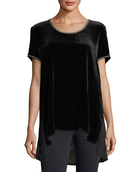 Johnny Was Aspen Velvet Scarf-Back Tee, Plus Size