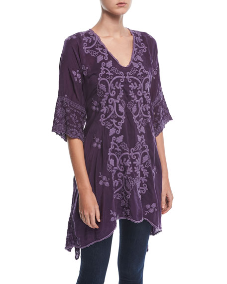 Johnny Was Morno Rayon Georgette Top, Plus Size