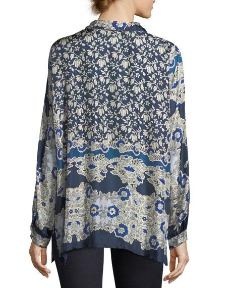 Wishing Printed Silk Georgette Blouse