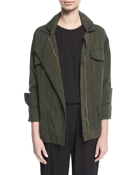 Halston Heritage Oversized Twill Jacket and Matching Items