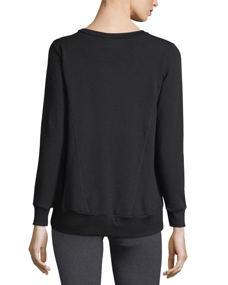 Cozy Everyday High-Low Fleece Pullover Sweatshirt