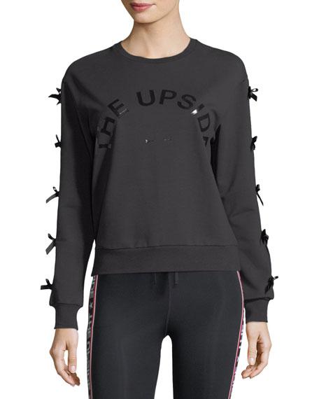 The Upside Bowie Crewneck Sweatshirt w/ Bow Details