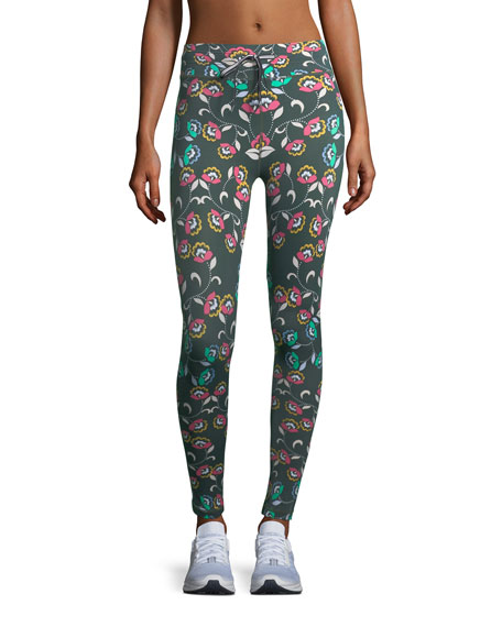 The Upside Wunderland Drawstring Printed Performance Leggings