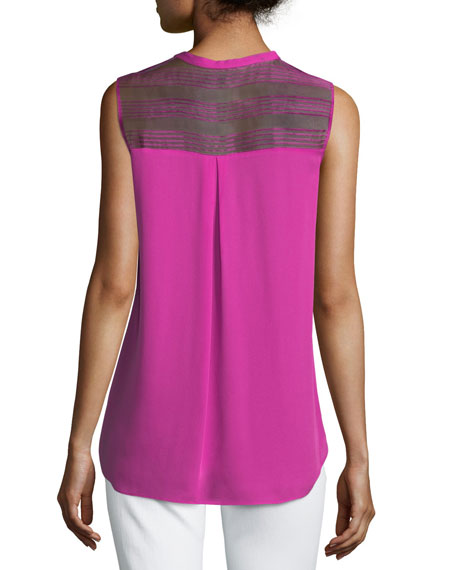 Kia Sleeveless Silk Blouse
