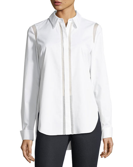 Landra Button-Front Blouse