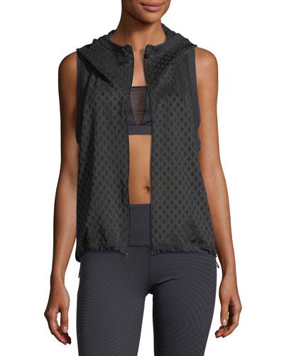 Crosshatch Zip-Front Performance Vest