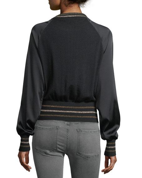 Bon Bon Embellished Bomber Jacket