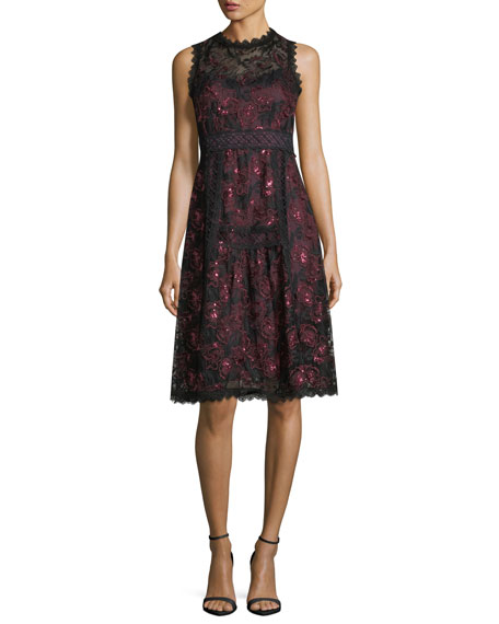 Nanette Lepore Ruby Sleeveless A-Line Lace Cocktail Dress