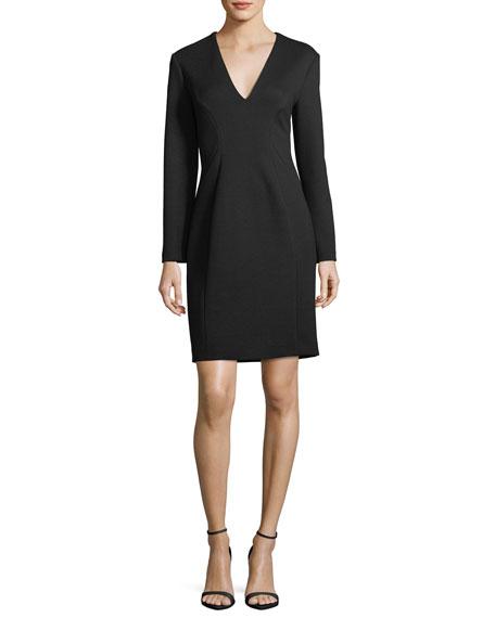 Prisha V-Neck Long-Sleeve Dress