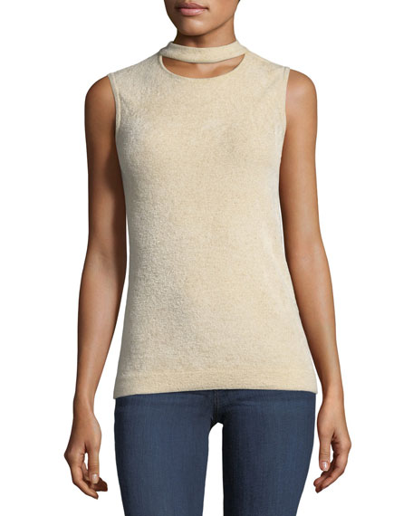 Elie Tahari Clovra Choker-Collar Sleeveless Sweater