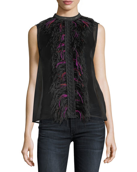 Elie Tahari Nolan Silk Sleeveless Top
