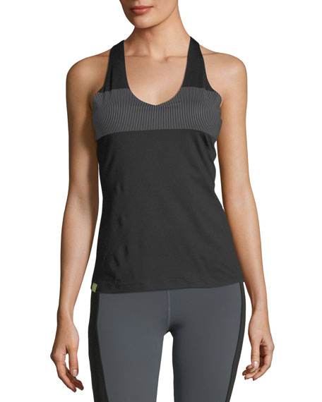 Essential V-Neck Reflective Stripe Performance Tank