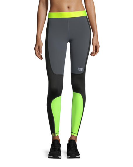 Monreal London Sprinted Colorblocked Performance Leggings