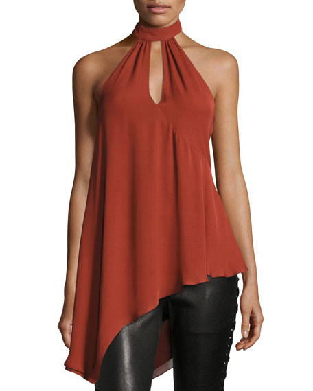 Fly Away Halter Silk Wrap Top