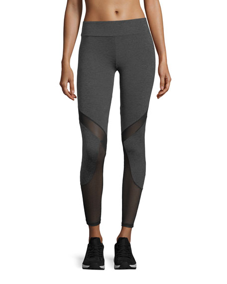 Lanston Jay Performance Leggings w/ Geo Mesh