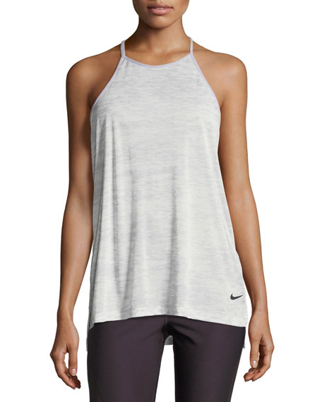 Nike Breathe T-Back Loose Training Performance Tank, Gray