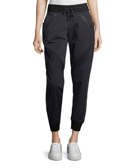 Blanc Noir Vibe Paneled Jogger Pants