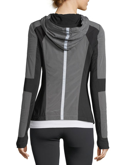 Just In Case Zip-Front Hooded Performance Jacket