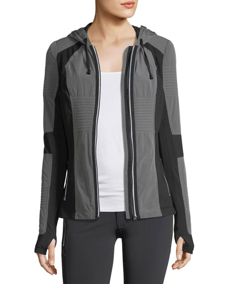 Blanc Noir Just In Case Zip-Front Hooded Performance