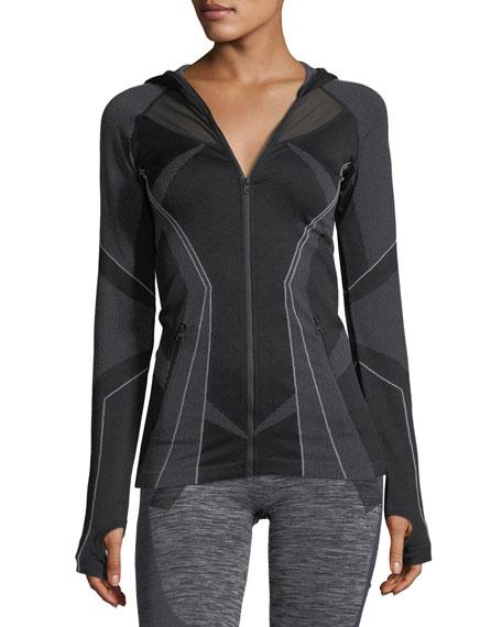 Sculpt Zip-Front Hooded Performance Jacket