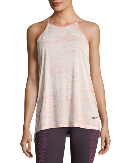 Nike Breathe T-Back Loose Training Performance Tank, Pink