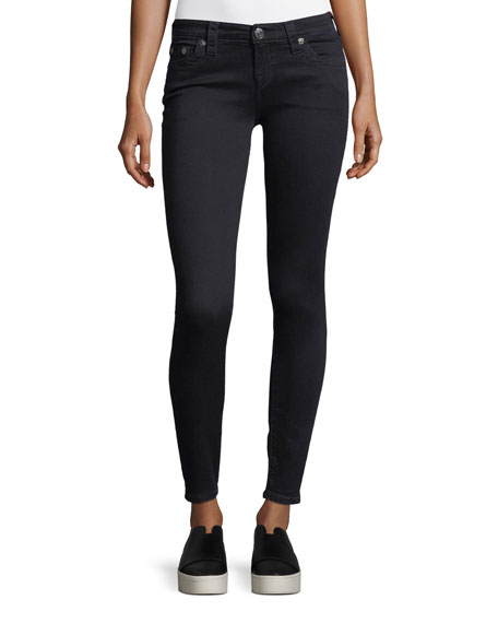 Casey Low Rise Skinny Jeans In Indigo Origin in Black