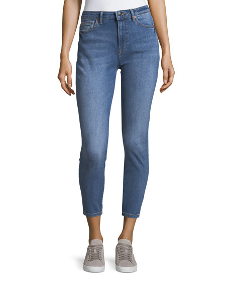 DL 1961 Chrissy Trimtone High-Rise Slim Jeans in
