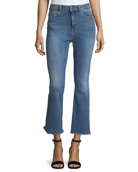DL 1961 Jackie Trimtone Crop Flare Jeans in