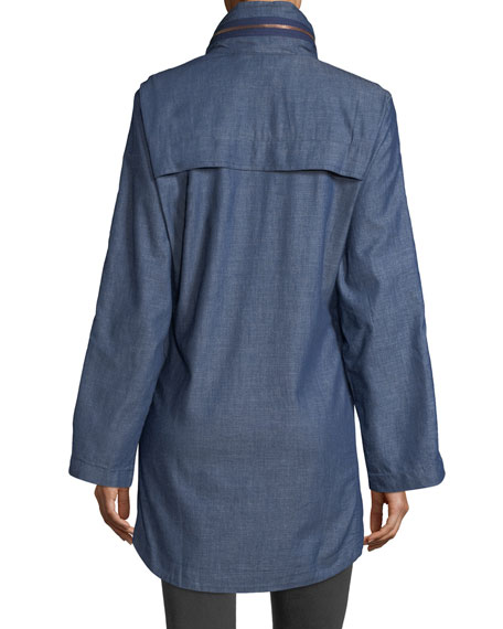 Denim Anorak Coat