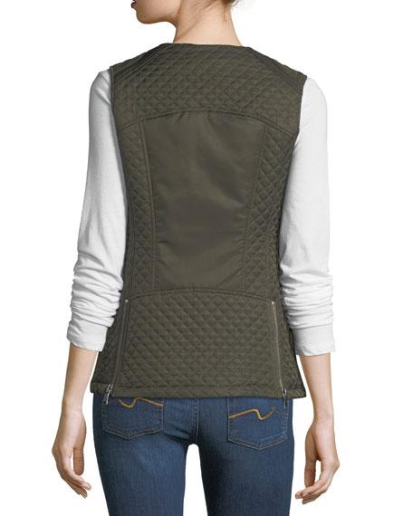 Quilted Zip-Front Vest