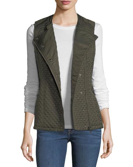 Raison D'etre Quilted Zip-Front Vest