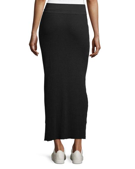 Foldover-Waist Maxi Skirt