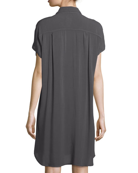 Button-Front Dolman-Sleeve Dress