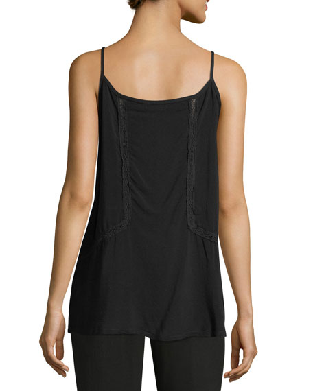 Henley Lace-Inset Camisole