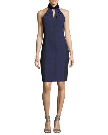 Elie Tahari Braxton Halter-Neck Cocktail Dress