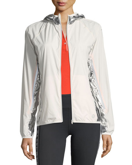 Tory Sport Metallic Nylon Performance Jacket