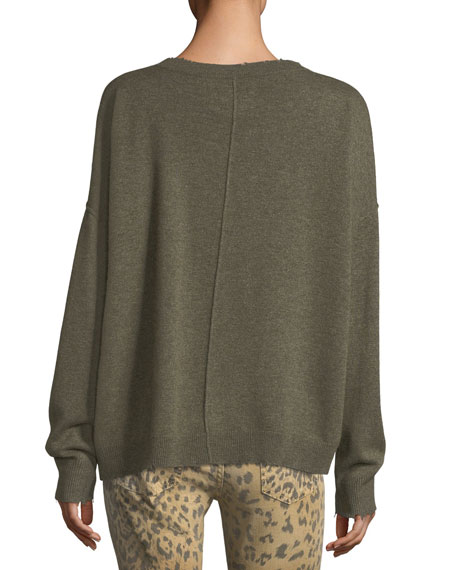 The Destroyed Knit Wool-Cashmere Sweater