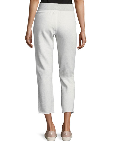 Walton Lace-Up Terry Cropped Jogger Pants
