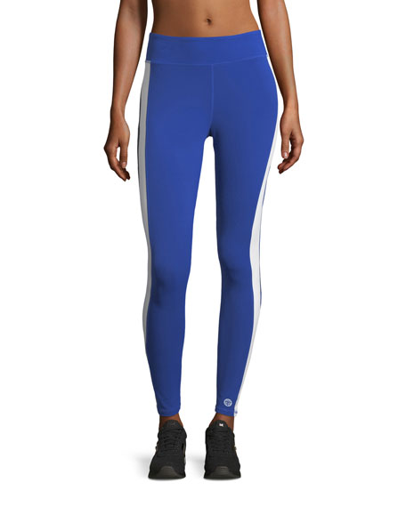 Tory Sport Varsity Striped Performance Leggings