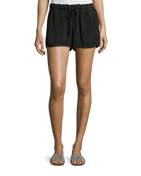 Allen Allen Drawstring-Waist Shorts