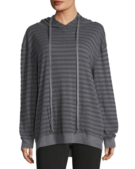 Allen Allen Striped Hooded Sweater