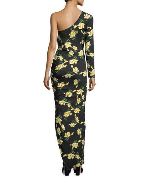Fontaine Floral-Print One-Shoulder Dress, Plus Size