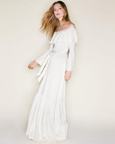Kyron Ruffled Off-the-Shoulder Maxi Dress